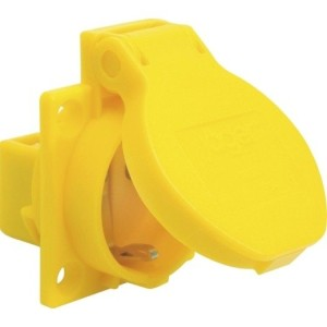 Maschinen-Steckdose gelb SIROX Schutz-Kontakt 230V, Anschluß