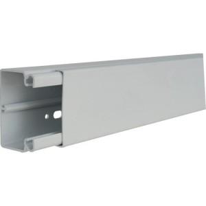 Minikanal 40x60mm grau RAL7035 Unterteil mit Bodenlochung