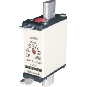 NH-Sicherung, C00, 125A, 500V gL-gG mit Doppel Kennmelder