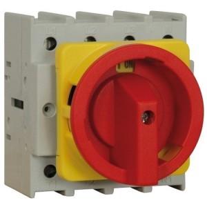 Not-Aus-Schalter rot/gelb 125A trennend, 4-polig, Fronteinbau