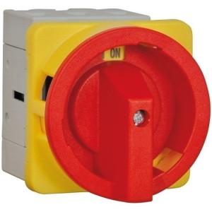 Not-Aus-Schalter rot/gelb 32A trennend, 3-polig, Fronteinbau