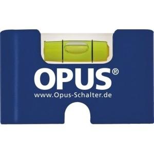 OPUS Mini-Wasserwaage mit Ausschnitt für Schrauben