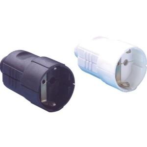 PVC-Kupplung mit Tülle Farbe: schwarz
