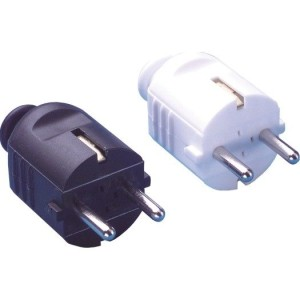 PVC-Stecker mit Tülle Farbe: schwarz