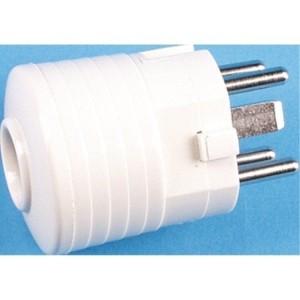 Perilex Stecker, weiß 3-pol.+N+PE, 16A, 230/400V