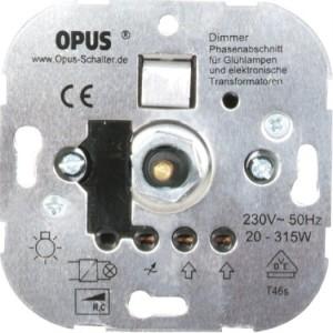 Phasenabschnitt-Dimmer 230V 20-315VA, 50Hz, Schraubklemmen