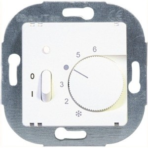 Raumthermostat Öffner-Absenkg. mit Schalter u. Kontrolllampe