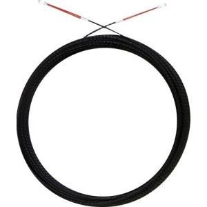 Runpo 5, 30 m, ø5,3, schwarz 3-fach gedrilltes Kunststoffb.