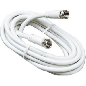 SAT-Anschlusskabel 75 Ohm 1,5m F-Stecker/F-Stecker, weiß