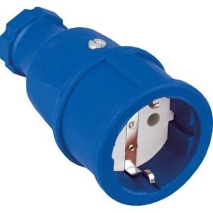 SIROX-Profi-Gummikupplung IP20, blau, Polyamideinsatz