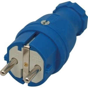 SIROX-Profi-Gummistecker IP44, blau, Polyamideinsatz