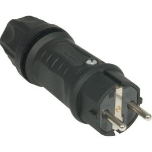 SIROX XL Volgummistecker schwarz IP 44
