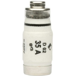 Schmelzeinsatz, D02, E18, 35A gL, schwarz 500V