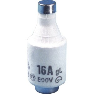 Schmelzeinsatz, DII, E27, 6A, 500V, träge/gL, grün
