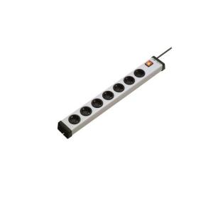 Schuko-Steckdosenleiste 7-fach mit 2-p. bel. Schalter