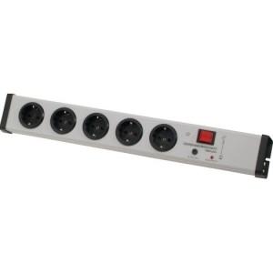 Schutzkontakt-Steckdosenleiste 5-fach, 2-pol.Schalter,Geräte-
