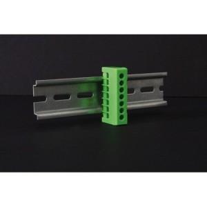 Schutzleiterklemme grün 7pol. für Norm-Tragschiene