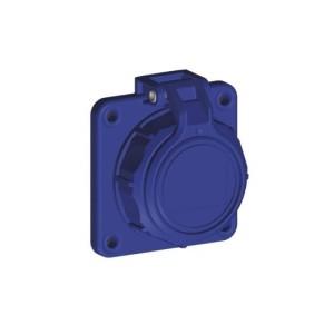 Sirox Schuko-Flanschdose IP68 druckwasserdicht, blau