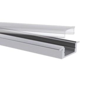 Slim-Alu-Kragenprofil,15mm, 2m Aluminium eloxiert