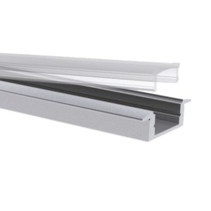 Slim-Alu-Kragenprofil, 7mm, 2m Aluminium eloxiert