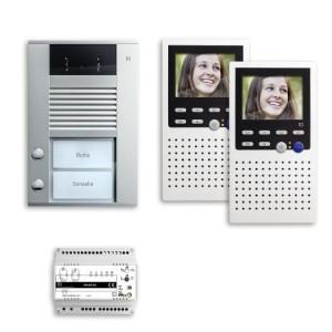 Sprechanlage AP 2-Familienhaus 2x Freisprecher, Audio + Video