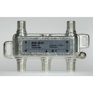 Stammleitungsverteiler, 4-fach für SAT-Anlagen, F-Technik