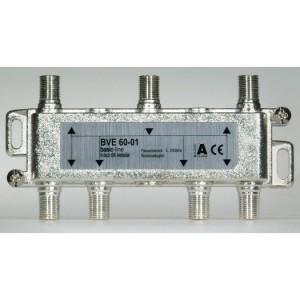 Stammleitungsverteiler, 6-fach mit Richtkoppler, F-Technik