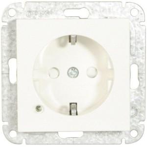 Steckdose/Spann.anz. silber LED, grün