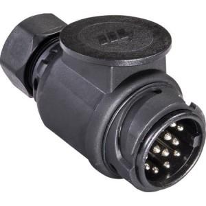 Stecker, 13-pol. 12V, schwarz