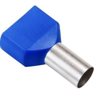 Twin-Aderendhülsen 2x16,00qmm blau