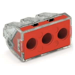 Verbindungsdosenklemme 3-Leiter-Klemme, rot