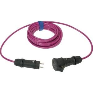 Verl. H07BQ-F 3G1,5 10m pink VG Steckvorrichtung sw/sw