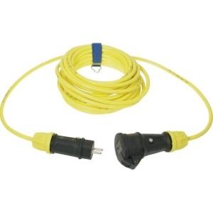 Verl. H07BQ-F 3G1,5 25m gelb VG Steckvorrichtung sw/ge