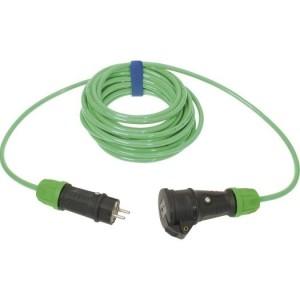 Verl. H07BQ-F 3G2,5 10m grün VG Steckvorrichtung sw/gn