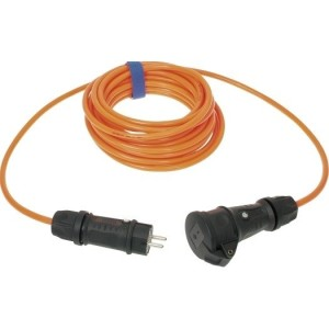Verl. H07BQ-F 3G2,5 10m orange leucht,VG Steckvorricht. sw/sw