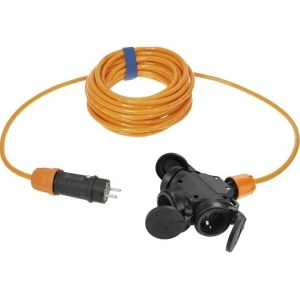 Verl. H07BQ-F 3G2,5 5m orange VG-3-f.Kupplung + VG-Stecker