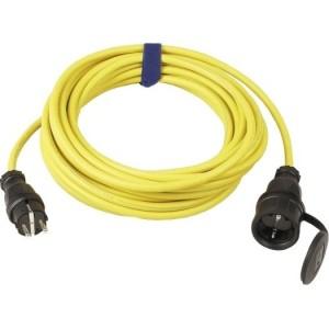 Verl.H07RN-F 3G1,5, 5m gelb H07RN-F 3G1,5 qmm gelb, IP44