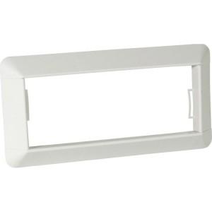 Wandrosette f. BR-Kanal 65x170 mm,VE 2 Stück,weiß 9010