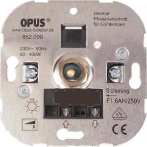 elektron. Glühlampen-Dimmer 60-800W, 230V,50Hz, Schraubkl.