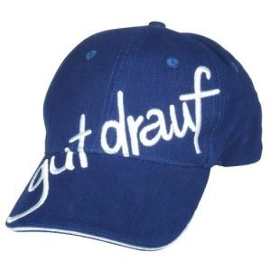 gut drauf-Cap, reflexblau Logo schräg