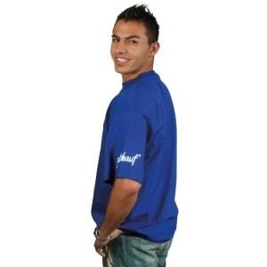 gut drauf-T-Shirt Größe: S BASIC, Farbe: Reflexblau