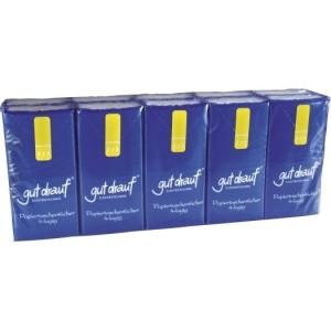 gut drauf-Taschentücher Pack m. 10x10 Tüchern, 4-lagig