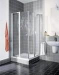 Kermi Nova 2000 Halbteil Eckeinstieg Pendeltür mit Festfeld Kunstglas Höhe 1850mm