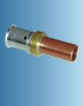Multitubo Metall-Press- Übergang auf Kupfer/Edelstahl (Variante: 16x2,00 - Cu 15)