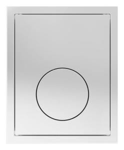 SANIT Urinal-Abdeckplatte Kunststoff chrom flächenbündig