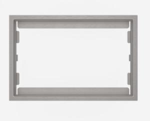 SANIT WC-Blendrahmen 6mm Edelstahl gebürstet  SG706/SK706