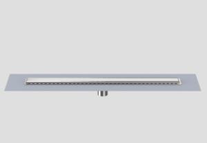 SANIT Duschrinne Edelstahl senkrecht, höhenverstellbar (Variante: 750/50mm)