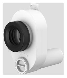 SANIT Urinal Absaug- Geruchsverschluss DN50/50 waagerecht