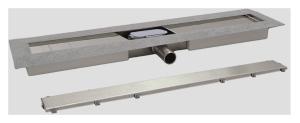 SANIT Duschrinne rahmenlos ES 50 waagerecht Höhe 62mm (Variante: 750/50/62mm)