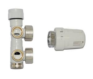 MERT ECAM SET, Eckform (Variante: weiß Thermostat rechts)